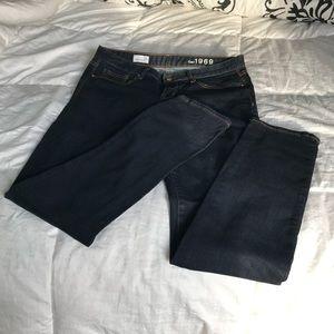 Women Gap straight leg jean New, size 30